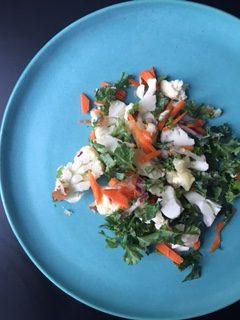 Lækker salat med blomkål